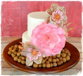 Edible Paper Garden Rose and Fabric Flowers