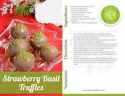 Make savory chocolate truffles with basi