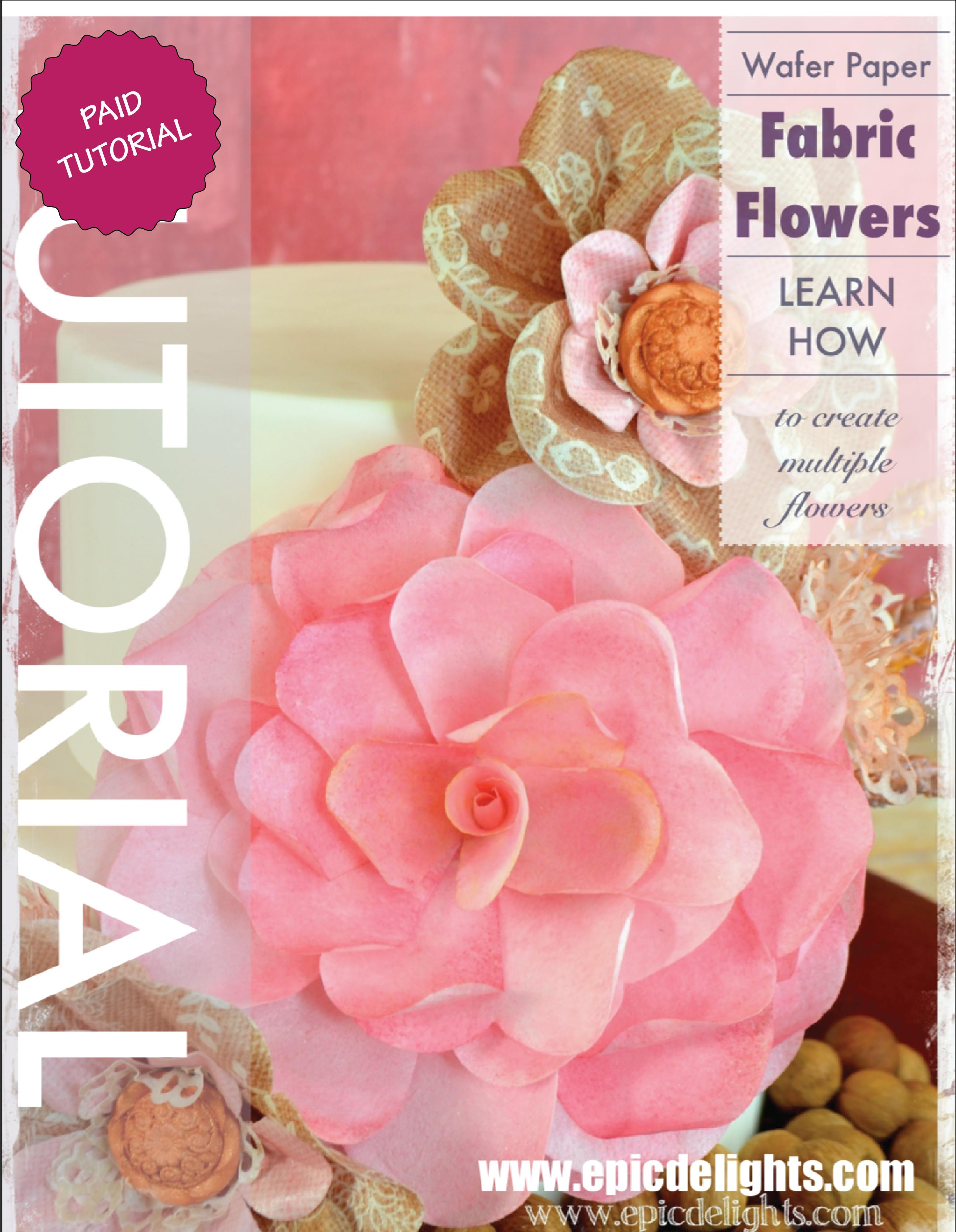 Fabric Garden Rose Cake