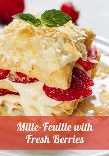 Mille-Feuille with Fresh Berries