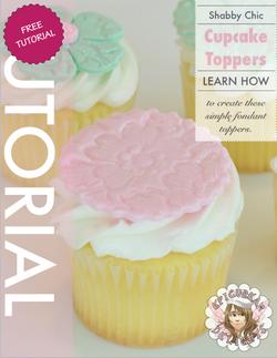Shabby Chic Cupcake Topper