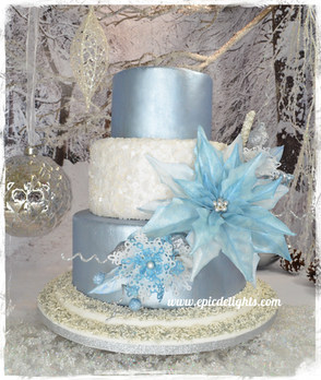 How to create a winter wonderland poinsettia cake!