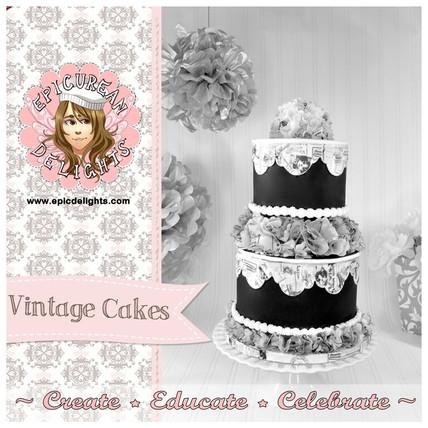 Vintage Wafer paper cake