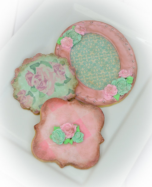 Shabby Chic Cookie Edible Designer Collection