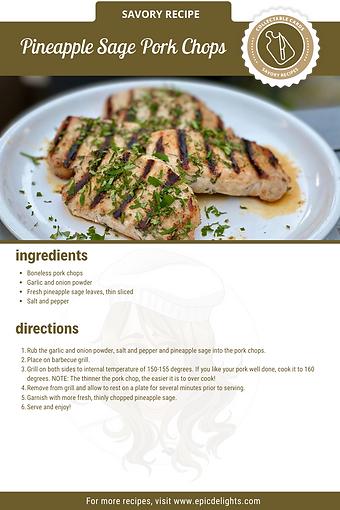 Pineapple Sage Grilled Pork Chops Recipe
