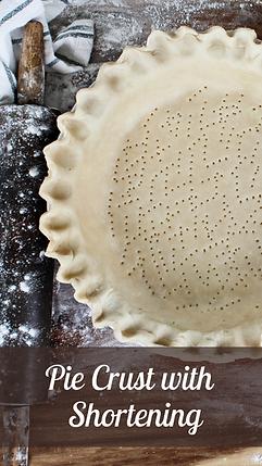 Shortening Pie Crust Recipe