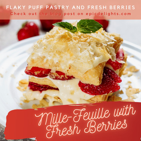 Mille-feuille with Fresh Berries and Fresh Mint