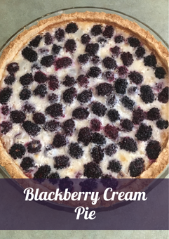 Blackberry Cream Pie Recipe
