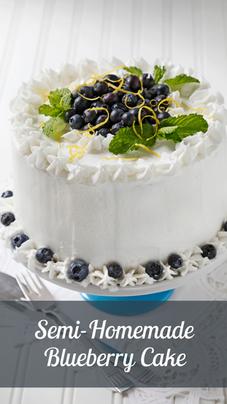Semi-homemade Blueberry Cake
