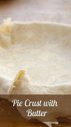 Butter Pie Crust Recipe