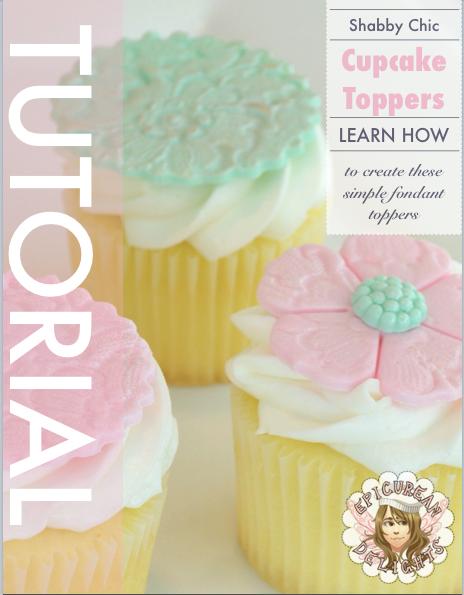 Shabby Chic Cupcake Topper Trio Tutorial