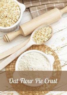 Oat flour Pie Crust Recipe