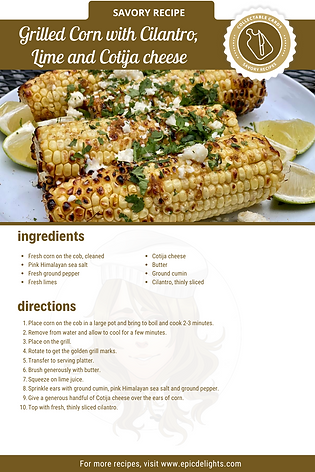 Grilled Corn with Cilantro, Lime and Cot