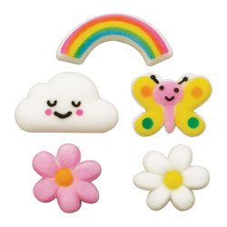 Sugar Flowers & Rainbows (10 Pieces)