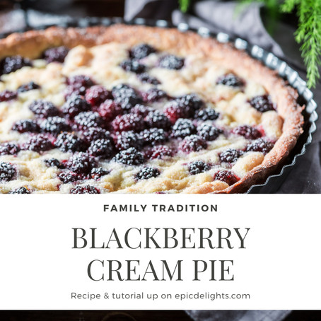 Summer Pies: Blackberry Cream
