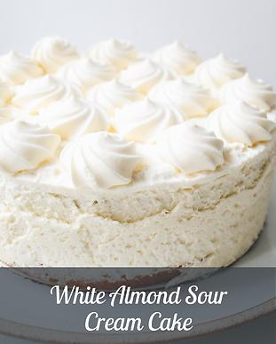 White Almond Sour Cream Cake GalleryImag