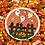 Thumbnail: Orange Polka Dot Wafer Paper/Frosting Sheet