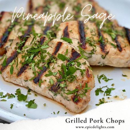 Pineapple Sage Pork Chops
