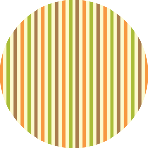 Fall Striped Wafer Paper/Frosting Sheet
