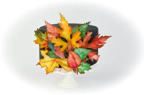 Fall Edible Paper Leaves