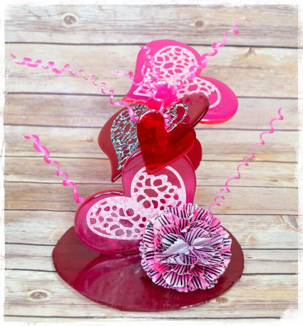 Isomalt Hearts and Wafer Paper