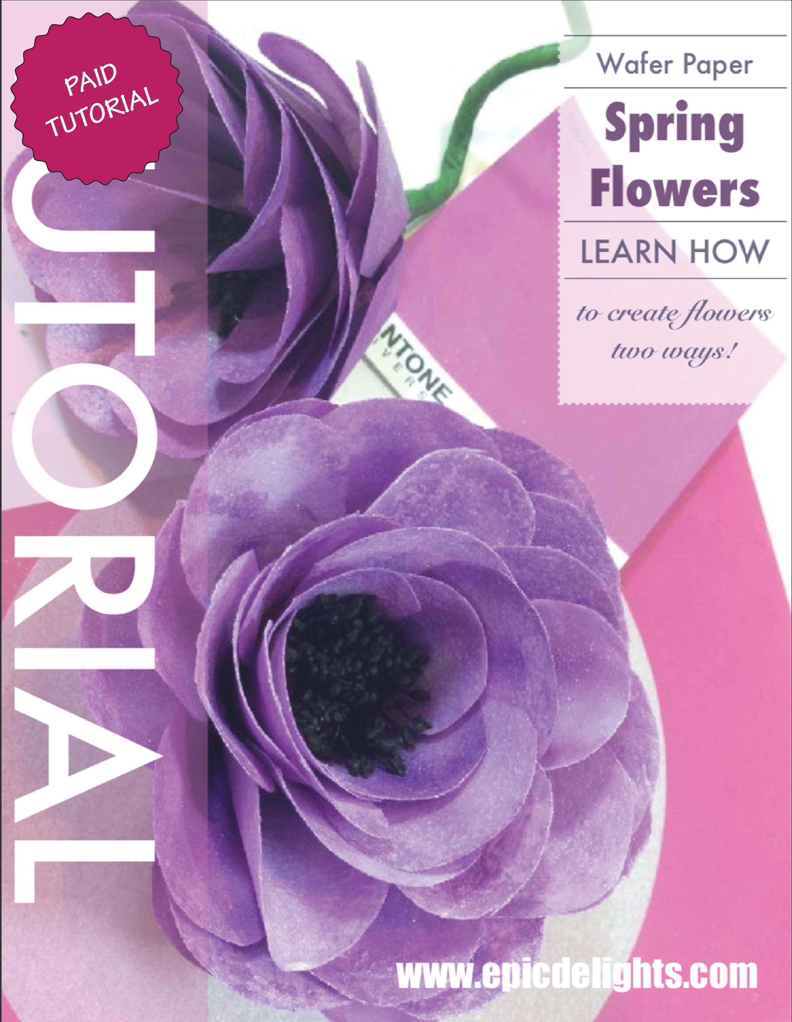 Purple Spring Wafer Flowers