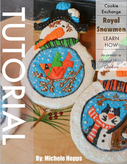 Royal Icing Snowman Cookie Tutorial