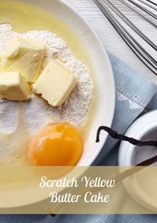 Scratch Yellow Butter Cake Recipe