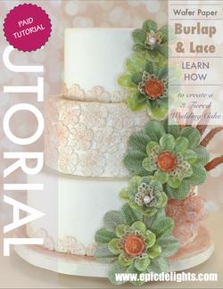 Burlap & Lace Cake