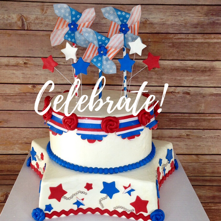 Create Our Fun 4th of July Cake