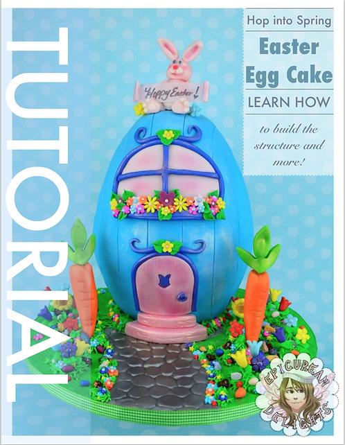 Easter Egg Carved Cake Tutorial