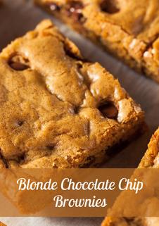 Blonde Chocolate Chip Brownie Recipe
