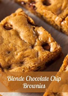 Blonde Chocolate Chip Brownie Recipe