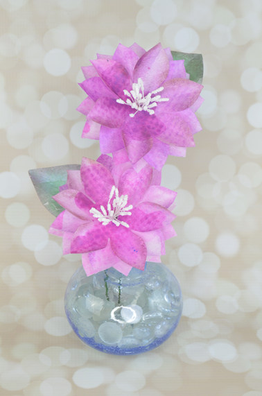 Water Color Edible Paper Flowers