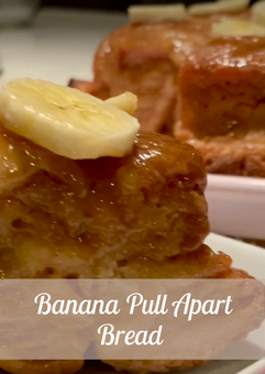 Banana Pull Apart Bread Recipe