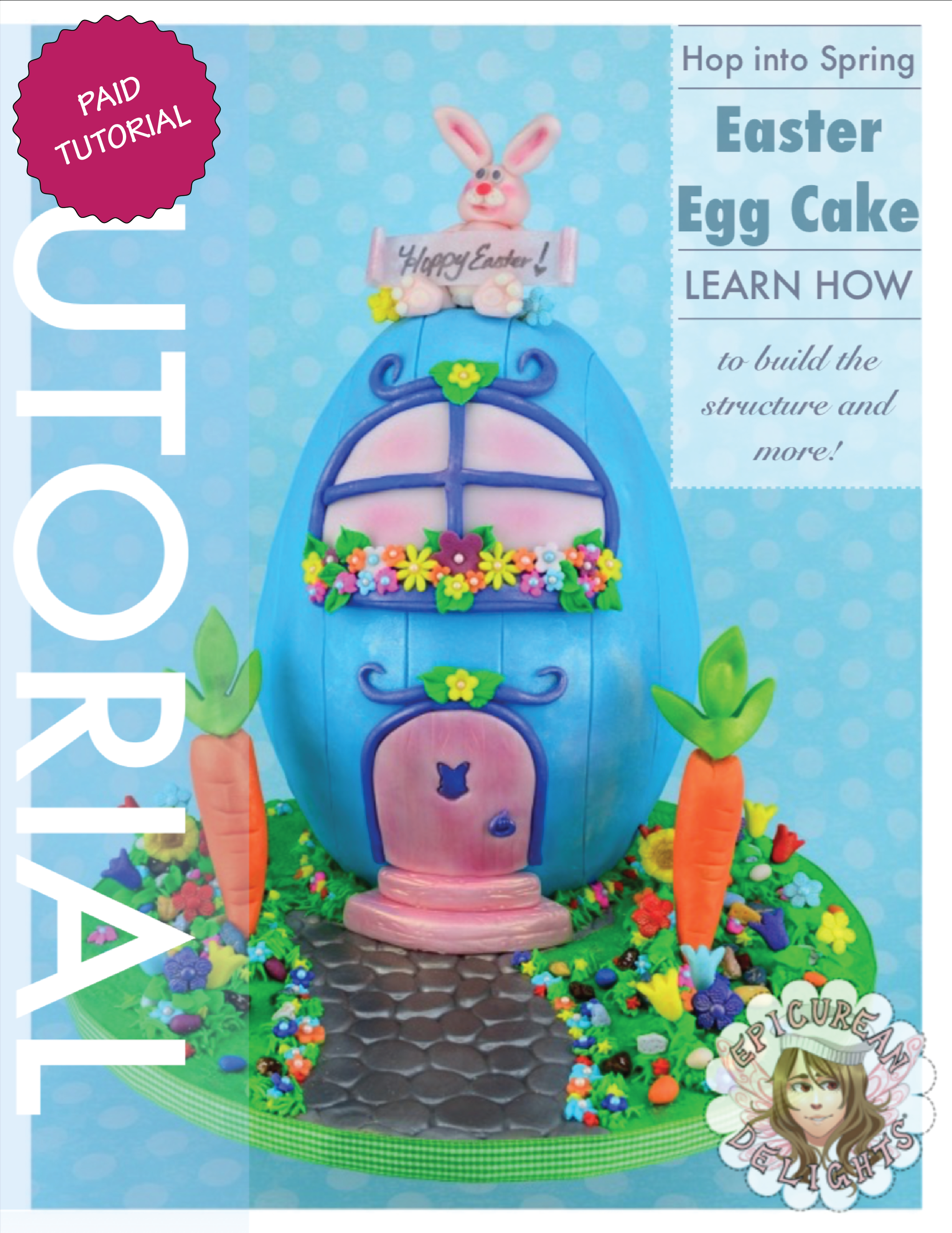 Easter Egg Carved Cake