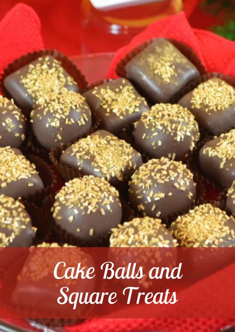 Cake Balls and Square Treats