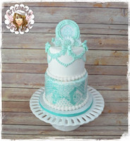 Tiffany Colors Inspired Wedding cake