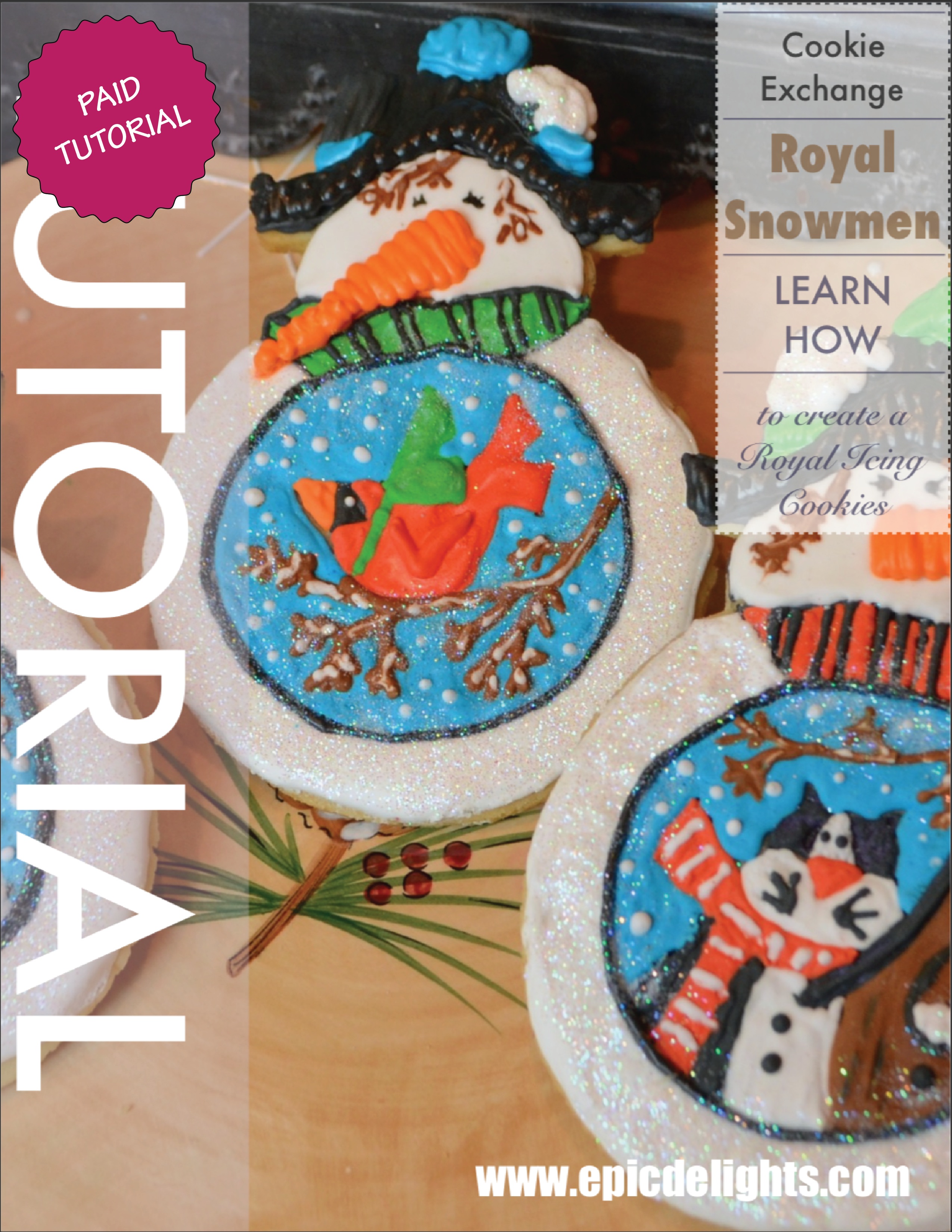 Royal Icing Snowman Cookie