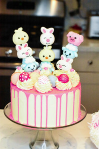 Easter Drip Cakes