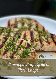 Pineapple Sage Grilled Pork Chops  Galle