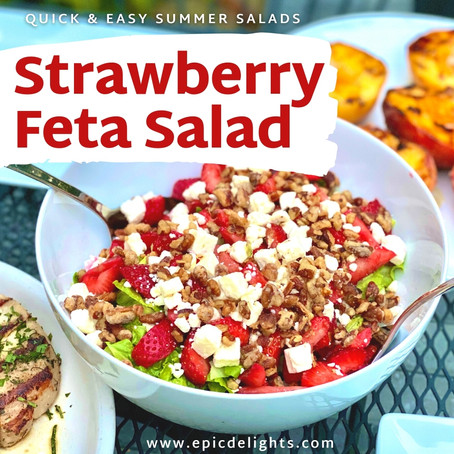 Strawberry Feta Summer Salad