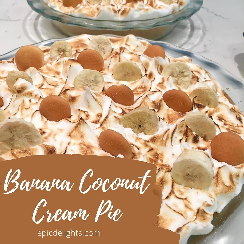 Michele's Banana Coconut Cream Pie