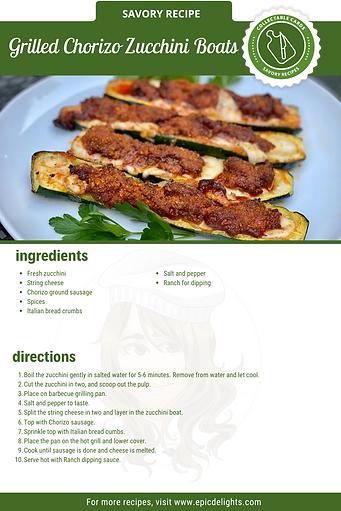 Grilled Chorizo Zucchini Boats Recipe Ca