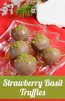 Strawberry Basil Truffles