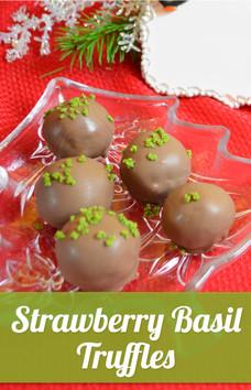 Strawberry Basil Truffles