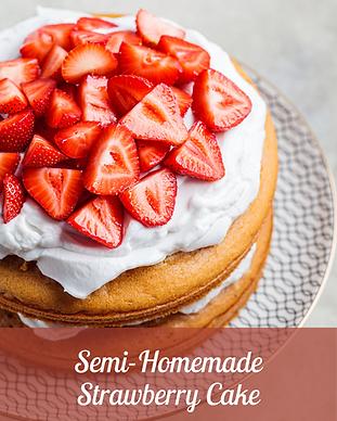 Semi-homemade Strawberry Cake GalleryIma
