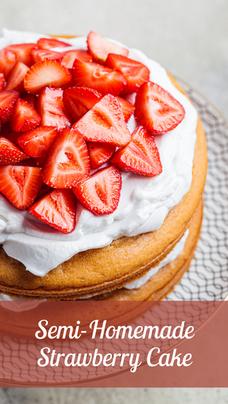 Semi-homemade Strawberry Cake