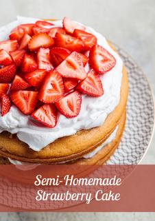 Semi-homemade Strawberry Cake Recipe