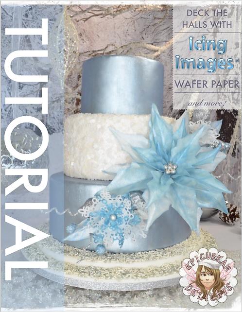 Wafer Paper Winter Wonderland Cake Tutorial